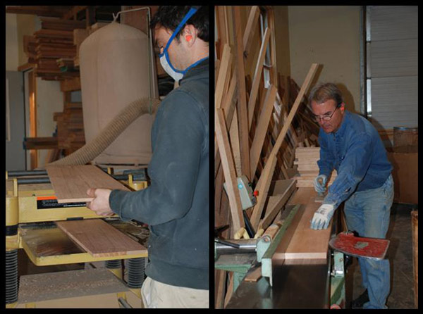 Bill Huston and Saer Huston build five new Collins Hall Tables, 25 Years