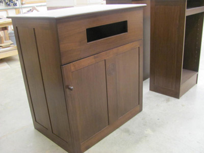 Huston & Company custom library furniture, handcrafted in Maine
