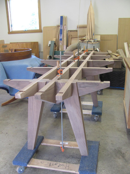 unfinished table, workshop, handmade, custom design, conference table, raging capital, huston