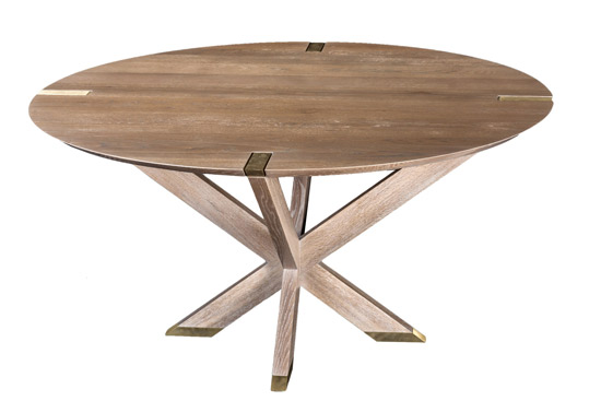 Newton Table, Huston & Company, Kennebunkport, Maine, handcrafted, dining table, Erin Gates, Elements of Style, beachy style