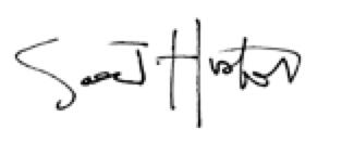 Saer Huston Signature