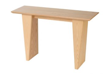 5° Console Table (White Ash)