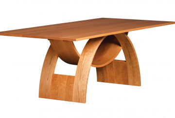Balance Dining Table. Shown in cherry.