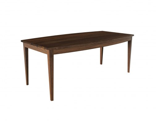 Camden Dining Table. Rendered in walnut.