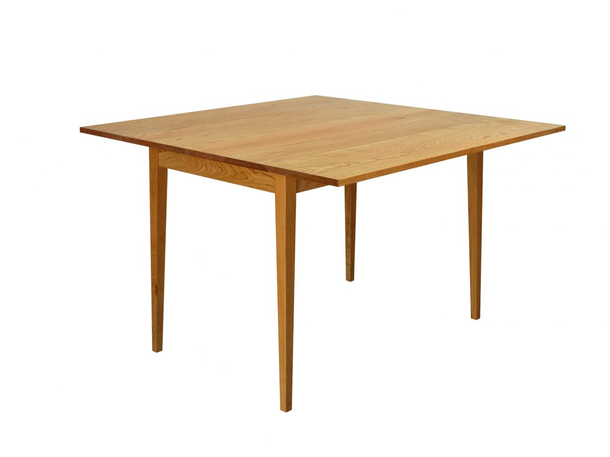 Drop Leaf Table, square. Rendered in cherry.