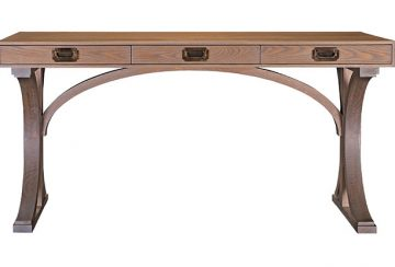 The Gates Desk. Shown in white oak with custom stain.
