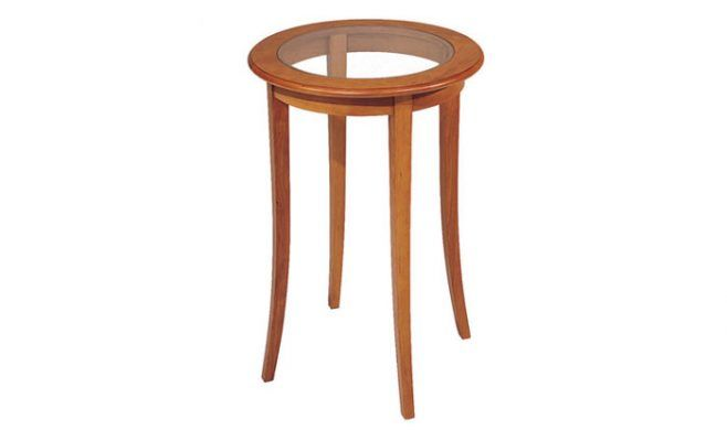 Providence Side Table in cherry.
