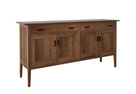 Kennebunk Sideboard. Rendered in walnut.