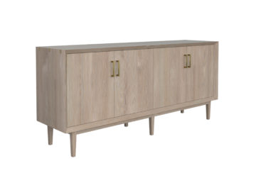 Newton Sideboard. Rendered in white oak with Newton finish.